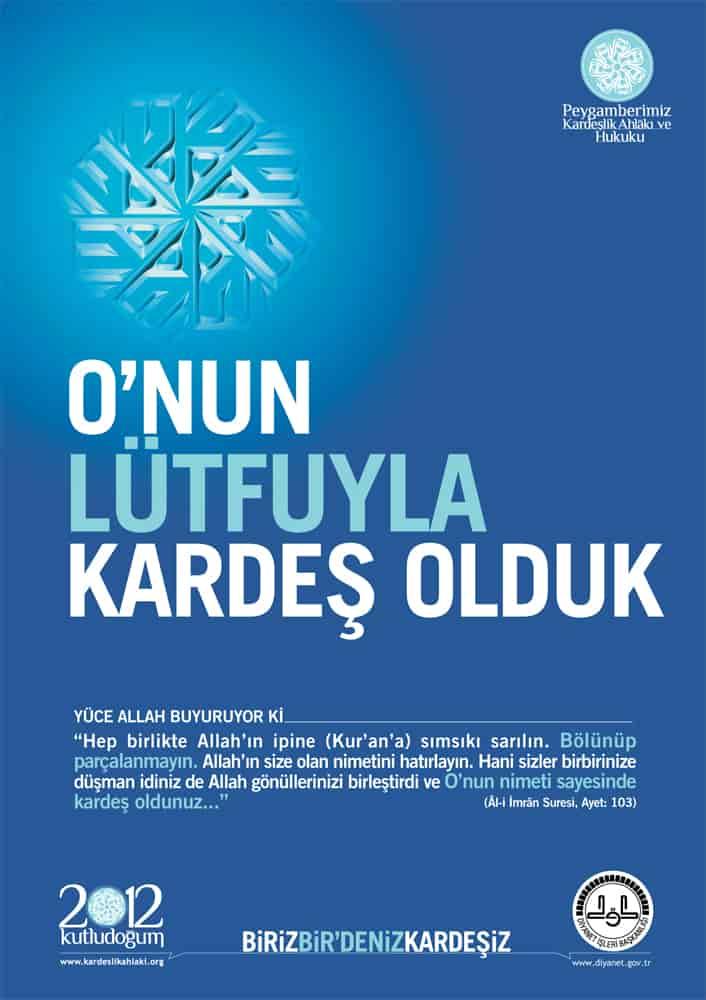 Kutlu Doğum Haftası Afişleri 2012 yılı afişleri